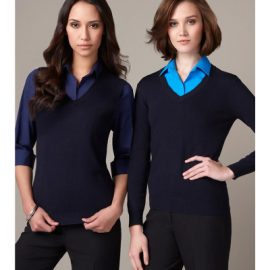 The Biz Collection Ladies V-Neck Pullover is a modern fit, viscose/nylon pullover.  3 colours.  Great branded v-neck pullovers from Biz Collection.