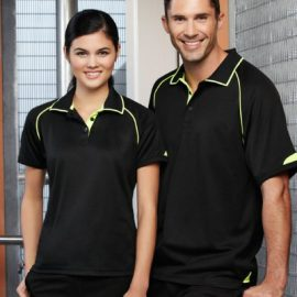 The Biz Collection Ladies Fusion Polo is a BIZ COOL™ Cotton Backed Polyester Fabric with Hi-Viz trims.  4 colours.  8 - 24.  Great branded biz cool polos & uniforms.