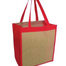 The Legend Life Ecowise Jute Tote made from 100% natural jute.  Available in 4 colours - Black, Red, Navy & Green.  Capacity of 22 litres.