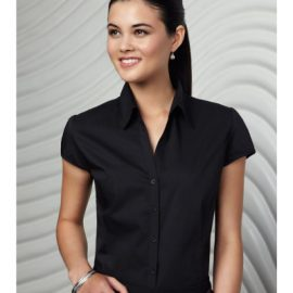 Biz Collection Ladies Metro Cap Sleeve Shirt