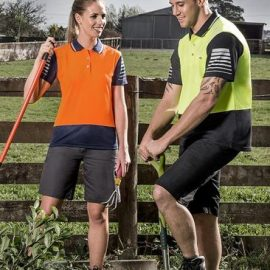The Syzmik Hi Vis Zone Polo is a polyester, breathable, quick dry, hi vis polo shirt. 4 colours. S - 7XL. Great branded hi vis polos and workwear from Syzmik.