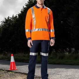 The Syzmik TTMC-W Long Sleeve Polo is a polyester long sleeve polo with retroreflective tape. S - 7XL. Orange. Great branded TTMC-W workwear from Syzmik.
