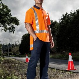 The Syzmik TTMC-W Short Sleeve Polo is a polyester polo with retroreflective tape. TTMC Orange. S - 7XL. Great branded hi vis, compliant polos from Syzmik.