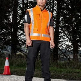 The Syzmik TTMC-W Fleece Lined Vest is a fleece lined vest with retroreflective tape. Orange. S - 7XL. Great branded TTMC-W compliant workwear.