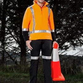 The Syzmik TTMC-W Fleece Jumper is a 390gsm anti pill fleece with retroreflective tape.  Orange.  S  - 7XL.  Great compliance TTMC hi vis clothing.