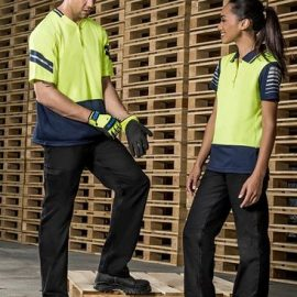 The Syzmik Womens Plain Utility Pant is a 100% 280gsm mid weight cotton drill pant.  Navy or Black. Great womens Syzmik workwear.