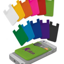 The Trends Collection Silicone Smart Wallet is a soft touch silicone wallet that sticks to back of phones. Available in 11 colours. Great branded promotional product.