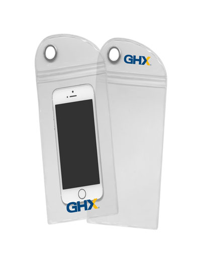 The Trends Collection Smart Phone Pouch protects smart phones from the elements. Branding top & bottom. Great branded promotional summer product.