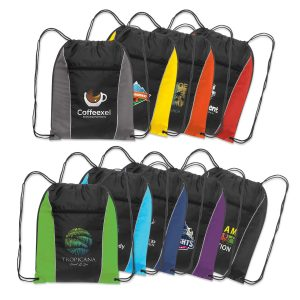 The Trends Collection Ranger Drawstring Back Pack has a zip pocket. 210D polyester. Reinforced eyelets. Available in 9 colours. Great branded bag.