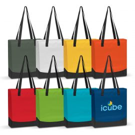 The Trends Collection Plaza Tote Bag is a smart two tone tote bag. 600D polyester with reinforced handles. Available in 8 colours. Great retail promo product.