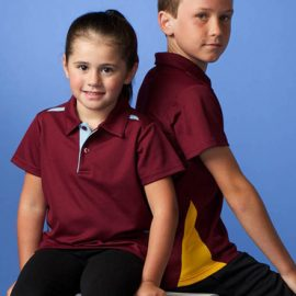 The Aussie Pacific Kids Paterson Polo Shirt is made from Driwear polyester & cotton moisture removal fabric.  9 colours.  Great branded contrast polos & sportswear.