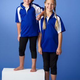 The Aussie Pacific Kids Panorama Polo Shirt is made from a polyester and cotton moisture removal fabric.  5 colours.  Great branded polos & sportswear.