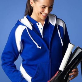 The Aussie Pacific Ladies Panorama Zip Hoodies are a 50/50 polyester/cotton split hoodie.  14 colours available.  Great branded hoodies & sportswear.