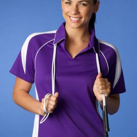 The Aussie Pacific Ladies Premier Polo shirt is made from 100% Driwear Polyester moisture removal fabric.  18 colours.  Great branded polo shirts & sportswear.
