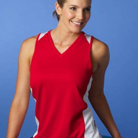 The Aussie Pacific Ladies Premier Singlet is made from Driwear Polyester.  Available in sizes 8 - 20.  18 colour combinations.  Great branded singlets & sportswear.