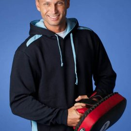 The Aussie Pacific Mens Paterson Hoodies offer a contrast edge stitch hood line. 50/50 cotton poly blend. 300gsm. 10 colours. Great branded hoodies & sportswear.