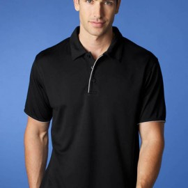 The Aussie Pacific Mens Yarra Polo Shirt is made from 100% Driwear polyester moisture removal fabric.  11 colours.  Great branded polos shirts and sportswear.