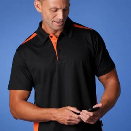 The Aussie Pacific Mens Paterson Polo Shirt is made from Driwear polyester & cotton moisture removal fabric.  19 colours.  Great branded contrast polos & sportswear.