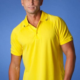 The Aussie Pacific Mens Flinders Polo Shirt is made from Driwear polyester moisture removal fabric. 14 colours. Great branded polos & sportswear.