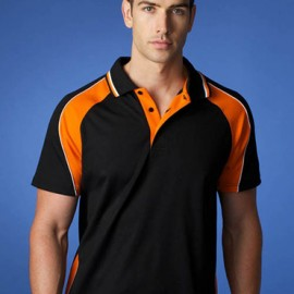 The Aussie Pacific Mens Panorama Polo Shirt is made from a polyester and cotton moisture removal fabric.  13 colours.  Great branded polos & sportswear.