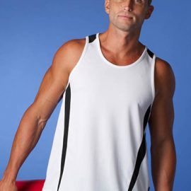 The Aussie Pacific Mens Eureka Singlet is made from polyester moisture removal material.  In 18 colours.  Great branded singlets & sportswear.