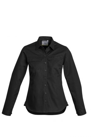 The Syzmik Womens Lightweight Long Sleeve Tradie Shirt is a 145gsm cotton twill work shirt.  In 4 colours.  8 - 24.  Great Syzmik branded workwear.