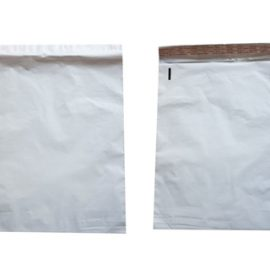 White courier bag, front and back