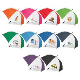 The Trends Collection Hydra Sports Umbrella is a premium auto opening 76cm, 8 panel sports umbrella.  10 colours.  Great branded promotional umbrellas.