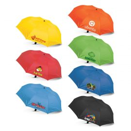 The Trends Collection Avon Compact Umbrella is a double fold 52cm, 8 panel umbrella with auto opening.  6 colours.  Great branded promotional umbrellas.