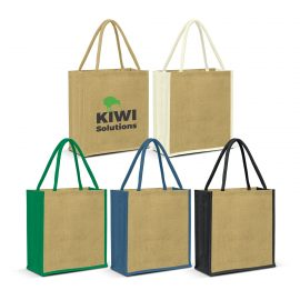 The Trends Collection Lanza Jute Tote Bag is a large laminated jute tote bag with padded cotton handles. 4 colours. Great branded bags & promotional products.