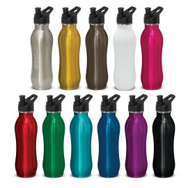 The Trends Collection Atlanta Eco Safe Bottle is a 700ml food grade stainless steel drink bottle.  3 lid styles.  11 colours.  Great branded drink bottle & promo product.
