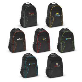 The Trends Collection Artemis Laptop Backpack is a 2 compartment backpack made from 600D polyester.  7 colours.  Great branded laptop backpacks & promo products.