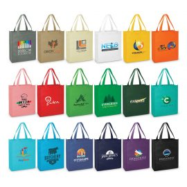 The Trends Collection Kira A4 Tote Bag is a tote bag perfect for A4 size documents & books etc.  18 colours.  Great branded bags & promotional products.