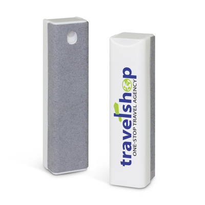 The Trends Collection Solano Screen Cleaner is a 17ml pump action cleaner for screens. White/Grey. Great branded screen cleaners & promotional products.