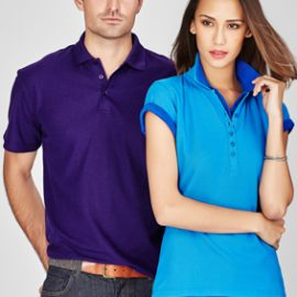 The Biz Collection Ladies Crew Polo is a 65% polyester, 35% cotton polo.  12 colours.  Great branded polo shirts & embroidered or printed uniforms.