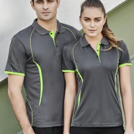 The Biz Collection Ladies Razor Polo is a 100% Biz Cool polyester sports interlock fabric.  Contrast panels.  14 colours.  Great branded polo shirts & sportswear.