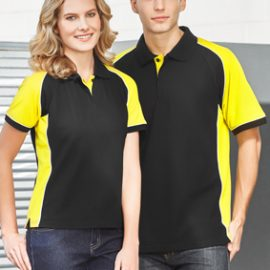 The Biz Collection Mens Nitro Polo is a 65% polyester, 35% cotton pique knit.  In 7 colours.  Sizes S - 5XL.  Great branded polos & printed promo clothing.