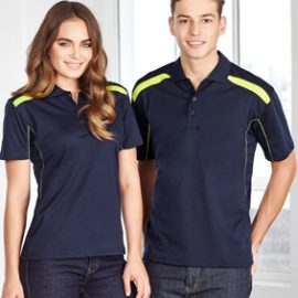 The Biz Collection Mens United Short Sleeve Polo is a BIZ COOL™ 100% Breathable Polyester polo shirt.  15 colours.  Great branded biz cool polos & uniforms.