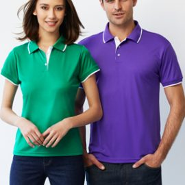 The Biz Collection Ladies Miami Polo shirt is made from 100% BIZ COOL™ Polyester Stretch Interlock fabric.  5 colours.  Great branded polos & uniforms.