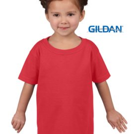 The Gildan Heavy Cotton Toddler T Shirt is a 50% cotton/50% polyester tee. Sizes 2 - 6. Great cost effective kids tees for printing and events.