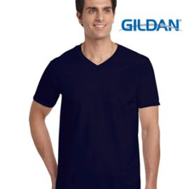 The Gildan Softstyle Adult V-Neck T Shirt is a 150gm cotton jersey knit tee.  4 colours.  Semi Fitted.  S - 3XL.  Great cotton tees from Gildan.