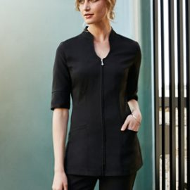The Biz Collection Bliss Tunic is a tunic made from premium stretch fabric, easy care, with 2 front pockets. 3 colours. 6 - 20. Great beauty tunics & uniforms.