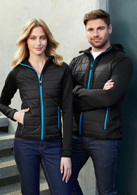 The Biz Collection Stealth Womens Hoodie Jacket is a warm hoodie jacket. Available in 5 colour options. XS - 2XL. Great branded insulated hoodie jackets.