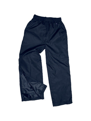 The Aurora Sports Matchpace Track Pants Kids are polyester outer with extra long ankle zip. Perfect for sports teams. 6 - 14. In Black & Navy. Great branded sports apparel.