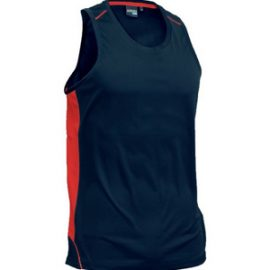 The Aurora Sports Kids Matchpace Singlet is 100% polyester, quick drying and breathable.  Available in 6 colour combinations.  Sizes 6 - 14.  Great sports apparel.
