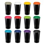 The Trends Collection Cafe Cup is a 480ml double wall reusable coffee cup with secure screw on lid. Mix n Match. 12 colours. Great reusable coffee cups.