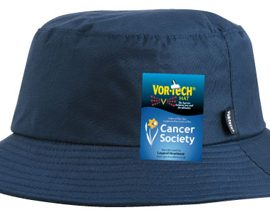 The Legend Life Vor-Tech Bucket Hat is ideal for all types of weather, the unique Vor-tech construction is your barrier against the elements. Great branded Cancer Society Sunsmart Hat.