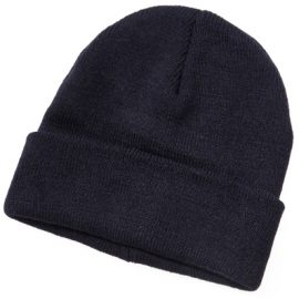 The Legend Life Wool Blend Beanie is 50% wool & 50% acrylic.  Extra warm.  Black & Navy.  One size fits most.  Great branded beanies & woolly headwear.