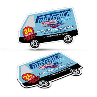 The Trends Collection Fridge Magnet 90 x 50mm Van Shape is a high gloss laminated finish fridge magnet.  Great branded promo fridge magnets.
