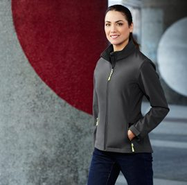 The Biz Collection Womens Apex Lightweight Softshell Jacket is lightly water repellent and wind resistant.  3 colours.  S - 5XL.  Great branded softshell jackets and Biz Collection apparel.